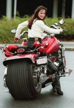 Motorcycle Girl: Motorcycles, Girls, Motorbike, Bikes, Biker, Cars, Wheels, Big