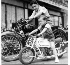 #motorcycles #vintage: Motorcycles, Dad, Bikes, Vintage, Sons, Father And Son, Cafe Racer, Photo, Kid
