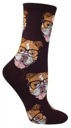 Move over Kittenster, there's a new hipster in town!  Crew length sock with bulldogs rocking some glasses. Available in Black or Seaglass.  Fits women's shoe size 5-10.: Fit Women, Bulldogster Socks, Animal Socks, Bulldogs Rocking, Crazy Animals,