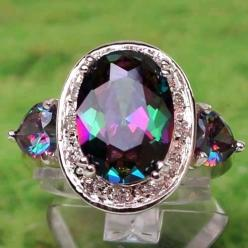 Mystic Topaz. Love this! I just ordered a ring with this stone. Not this big, though!! Very pretty!!: Accessories Jewelry, Mystic Topaz, Diamond Rings, Jewelry Diamond Necklace Rings, Gorgeous Earrings, Baubles, Black Diamonds, Jewelry Rings, Topaz Rings