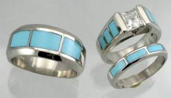 Native American wedding rings: American Wedding, Dream Ring, Wedding Ideas, Wedding Rings, Inlaid Rings, Turquoise Weddings, Native American