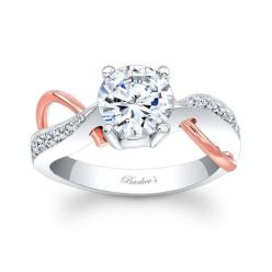 New at Ray Eldridge Jewelry!  Set yourself apart from your friends!  White & Rose Gold Engagement Ring - White & Rose Gold Engagement Ring: Diamond Engagement Rings, Gold Engagement Rings, Diamond Rings, Two Tone, Dream Wedding, Wedding Rings, Eye