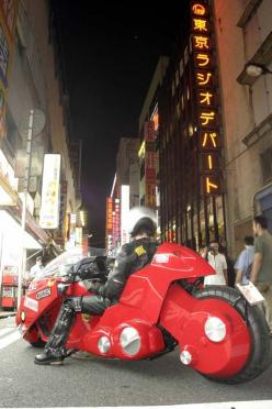 Note sure where else to put this, but the bike is kind of cosplaying, isn't it? AKIRA, KANEDA BIKE, a real motorcycle); Akihabara in Japan: Cars Motorcycles Sick, Akira Cosplay, Akira S Bike, Motorbikes, Akira Bike, Electric Motorcycles, Cars Bike, Wh