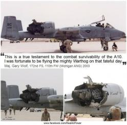Nothing can bring down a #USAF #A-10 #Warthog. Again from: www.facebook.com/RealAirPower: Www Facebook Com Realairpower, Fighter