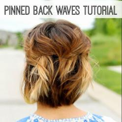 now that I am growing out my hair I should learn how to style it?: Hairstyles, Short Hair Updo, Short Hair Styles, Makeup, Summer Color, Hair Color, Short Hair Tutorials