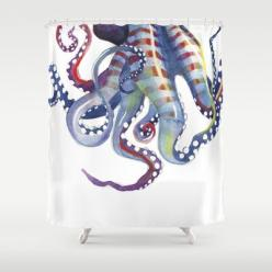 Octopus Shower Curtain - makes me wish i needed a shower curtain...: Art Prints, Buy Octopus, Samnagel, Octopus Shower Curtains, Sea Monsters, Sam Nagel, Products, Octopuses, Octopus Art