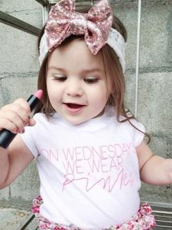 On Wednesday's We Wear Pink.     Oh my gosh! The girls need these! Hahaha: Lil Kiddos, Babygirl, Kids Clothes, Kids Fashion, Future Kids