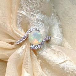 Opal Bypass Ring or Engagement Ring Handmade by NorthCoastCottage, $279.00: Opal Bypass, Opal Engagement Ring, Wedding, Engagementrings, Opals, Handmade Jewelry, Engagement Rings