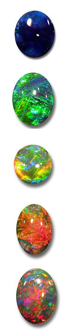 Opals_October birthstone. May perhaps be the only stone that offers so many options for the birthstone. Love.: Colors, October Birthstone, Black Opals, Crystal Gemstones Minerals, Gems Rocks Crystals Opals, Crystals Gems Rocks, Opals 3, Opal Gemstones