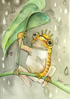 Original Frog Watercolor Painting 5 x 7 by asho on Etsy, $11.00: Watercolor Painting, Art Frogs, Frogs Art, Frog Drawing, Original Frog, Frog Paintings, Frog Art