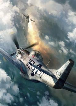 P-51 Mustang by John Wallin Liberto: Airplane, Aircraft, War Birds, P 51 Mustang, Aviation Art, Planes
