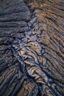 pahoehoe - A type of lava having a smooth, swirled surface. | THIS IS GIVING ME CRINGE-Y FEELINGS: Inspiration, Volcano, Lava Patterns, Textures Patterns, Natural Texture, Justin Reznick, Photo, Lava Flow, Material
