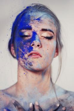 Paint + face = beautiful portrait photography: Picture, Idea, Portrait Photography, Inspiration, Color, Art, Beauty