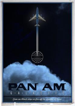 Pan Am Galactic Poster***Research for possible future project.: Airline Posters, Travelposters, Panam, Vintage Airline, Airplane, Pan Am, Travel Posters, Vintage Travel, Photo