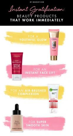 Patience isn't something we all have, especially when it comes to beauty products. In this day and age we want instant results and most of the time we don't get them, but with these makeup products you will! Try these out and get results in the bl
