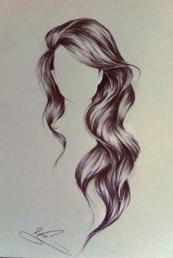 Perfect Long Hair, I wish my hair looked like this!: Hair Drawings, Sketch, Hairstyles, Art Drawing, Hair Styles, Long Hair, Drawing Hair, Beauty