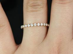 Petite Bubble & Breathe 14kt  Rose Gold  Diamond Almost Eternity Band: 14Kt Rose, Eternity Band, Petite Bubble, Gold Diamond, Diamond Wedding Band, Engagement Ring, Breathe 14Kt, Rose Gold