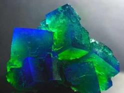 Photo by Rainer Hermanns of a stunning Fluorite!: Photos, Gemstones Minerals, Gems Minerals, Color, Blue, Rocks Minerals, Crystals Minerals, Green, Rainerhermanns