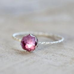 Pink sapphire gemstone ring by PraxisJewelry on Etsy, $32.00 Praxis Jewelry: Sapphire Rings, Gemstones, 32 00, Gemstone Rings, Etsy, Pink Sapphire Gemstone Ring, Amethyst Rings