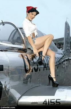 Pintwist on a better way to get out of an airplane rather than skydiving!: Pinupgirls, Pinups, Air Force, Aircraft Airplane, Pinup Hairstyles, Pinup Girls, Airplane Girl, Pin Up Girls