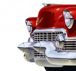 Plan59 :: Classic Car Art :: Vintage Ads :: 1954 Cadillac: 1954 Cadillac, Happy Birthday, Cadillac S, Classic Cars, Red, Stuff, Birthdays, Art