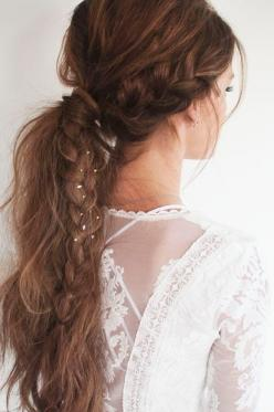 Ponytail Hairstyle with Braids - Cute Long Hairstyle Ideas for Girls: Hairstyles, Prom Ponytail Hairstyle, Hair Styles, Braids, Beauty, Hairstyle With Braid
