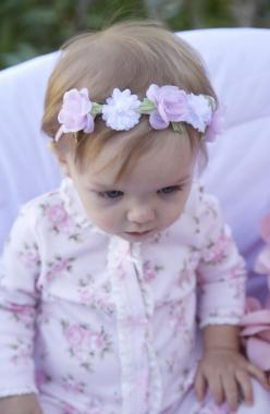 Precious floral headband.: J Forbaby, Floral Baby, Headband Baby, Baby Girls, Floral Outfit, Babysiiting Kids