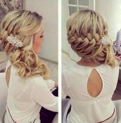 Prom Hairstyles for Long Hair: Side Braids: Weddinghair, Hair Styles, Wedding Ideas, Braids, Wedding Hairstyles, Updo