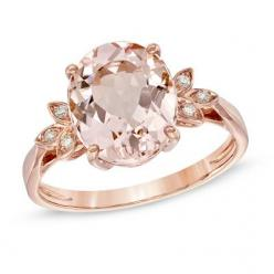 props to whomever is responsible for the targeted ad for this -- Oval Morganite and Diamond Accent Ring in 10K Rose Gold: Rosegold, Diamonds, Oval Morganite, Roses, 10K Rose, Rings, Rose Gold