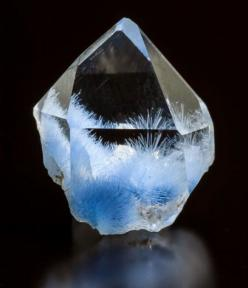 Quartz with Dumortierite inclusions: Geology, Crystals Gems Minerals Fossils, Gemstones Crystals Minerals, Crystals Stones, Rocks Minerals, Crystals Gems Minerals Stones, Quartz, Minerals, Dumortierite Inclusions