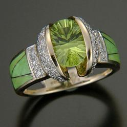 RANDY POLK DESIGNS: WOMEN'S RINGS - PAGE 5: Jewel, Polk Designs, Women'S Rings, Green Eye
