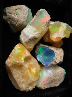 Raw opals: Gemstone, Saw Opals, Nature, Mineral, Color, Stones, Rocks