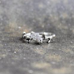Raw Uncut Rough Diamond Solitaire Promise Ring via Etsy.--can't decide if I would want an uncut diamond as an engagement ring, maybe a combination of both? just thinking~AO: Diamond Rings, Rough Diamond Ring, Uncut Diamond, Raw Diamond Engagement Ring