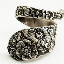 really beautiful spoon ring I love the floral!: Wild Flower, Flower Rings, Sterling Silver, Silver Spoon Rings, Spoons Rings