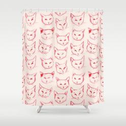 Red Cat Shower Curtain by Leah Reena Goren: Cat Shower, Showers, Add Cats, Art Cats, Cats Cats Cats, Shower Curtains, Cats Kittens, Red Cat, Products