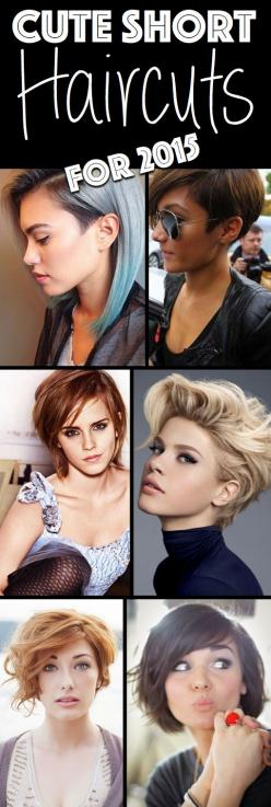 Redefine Your Look With These Inspired Cute Short Haircuts For 2015 - Here are several inspired cute short haircuts (for 2015) that will change the way you see short hair, for good! Click on the picture to see 50 haircut ideas!: Short Blond Hair Style, Cu