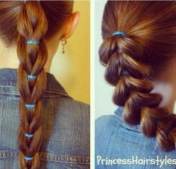 reverse pull through braid and standard pull through braid comparison: Trenzas Para Niña, Peinados Para Niña, Girl Hairstyles, Peinado Niña, Hair Style