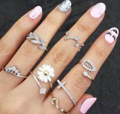 rings.: Fashion, Style, Rings, Jewelry, Jewels, Nails, Accessories, Nail Art