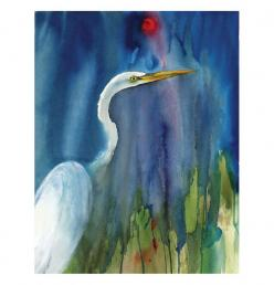 Roderick MacIver   WATERCOLOR: Book Art, Roderick Maciver, Blue Notecard, Limited Edition, Maciver Arts, Products