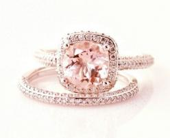rose gold engagement ring: Engagementring, Wedding Ideas, Weddings, Dream Wedding, Wedding Rings, Pink Diamonds, Engagement Rings, Rose Gold