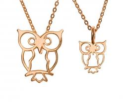 Rose Gold Plate: Daughter Necklace, Gold Owl, Gift Ideas, Owl Obsession, Products, Rose Gold, Owl Necklace