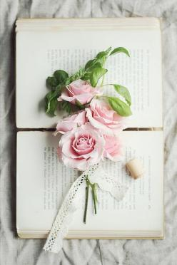 Roses and Basil | Flickr - Photo Sharing!: Vintage Books, Pink Roses, Shabby Chic, Flora, Beautiful, Ana Rosa, Flowers, Rose Cottage, Photo