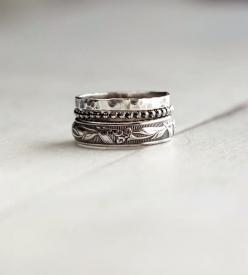 Rustic Sterling Silver Stacking Ring Assortment – Set of 3 | Jewelry Rings | 36ten | Scoutmob Shoppe | Product Detail: Silver Stacking, Rings Jewelry, Ring Assortment, Sterling Silver, Stacking Rings, Silver Rings, Jewelry Rings, Rustic Sterling