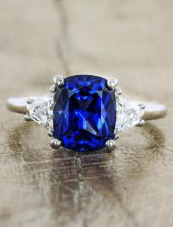 Sapphire & Gemstone Engagement Rings | Ken & Dana Design: Sapphire Engagement Rings, Blue Sapphire Engagement Ring, Wedding Rings, Sapphire Jewelry, Dana Design, Blue Engagement Ring, Blue Sapphire Ring