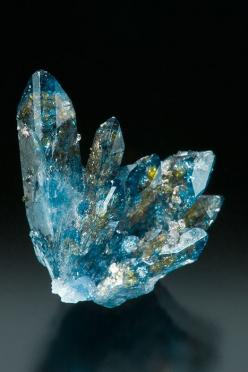 Scorodite is a common hydrated iron arsenate mineral, with the chemical formula FeAsO4·2H2O. It is found in hydrothermal deposits and as a secondary mineral in gossans worldwide. Scorodite weathers to limonite. Tsumeb Mine, Tsumeb, Namibia: Tsumeb Mine, G