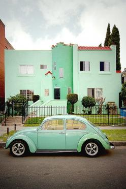 """Sea Foam Green. Doesn't quite fit in my """"Turquoise and Aqua-ish category, but I like it here. It looks good among the rest of the pins here.: Seafoam Green, Mint Green, Sea Foam, Vw Bugs, Color, Dream Cars, Slug Bug, Slugbug"""