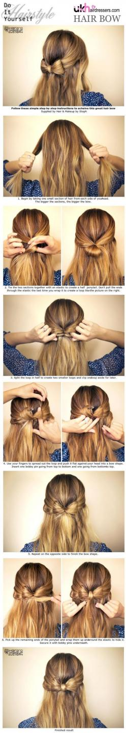 See more hairstyle ideas on http://pinmakeuptips.com/what-are-the-10-biggest-hair-care-mistakes/: Hairstyles, Hair Bow Hairstyle, Cute And Easy Hairstyle, Cute Hairstyle, Hair Style, Cute Simple Hairstyle, Half Up Hairstyle, Simple Easy Hairstyle
