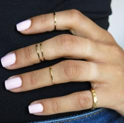 set of 5 gold knuckle rings pinky ring mid knuckle ring by TopStar, $17.99: Pinky Rings, Thin Gold Ring, Ring Mid, Rings Pinky, Knuckle Rings, Gold Rings, Mid Knuckle, Gold Knuckle