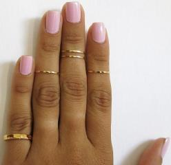 set of 5 gold knuckle rings pinky ring mid knuckle ring by TopStar: Pinky Rings, Nail Ring, Birthday Nail, Rings Pinky, Knuckle Rings, Gold Knuckle