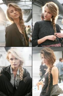 Side braids...: Hairstyles, Hair Styles, Sidebraids, Long Hair, Makeup, Beauty, Side Braids